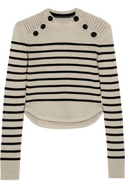 Isabel Marant Hatfield striped merino wool-blend sweater