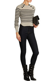 Hatfield striped merino wool-blend sweater