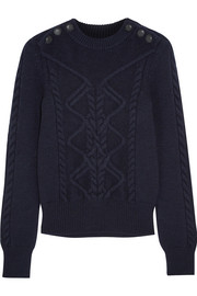 Dustin cable-knit wool-blend sweater