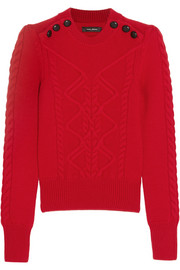 Dustin cable-knit stretch-wool sweater