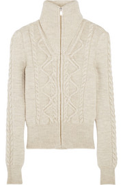 Dixon cable-knit wool-blend cardigan