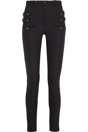 Lasia stretch wool and cotton-blend skinny pants