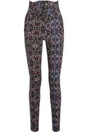 Isabel Marant Nephi printed stretch-cotton skinny pants