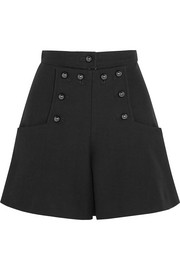 Lexia stretch-wool and cotton-blend shorts