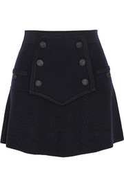 Huxley knitted wool-blend mini skirt