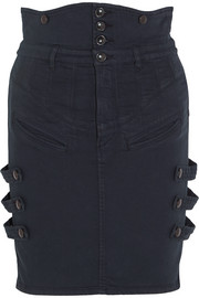 Noor stretch-denim mini skirt