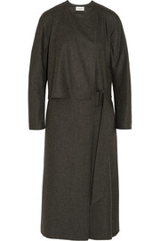 Wool-felt wrap dress