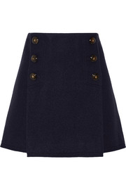 Boiled wool mini skirt