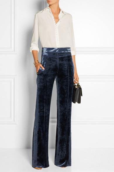 Sonia Rykiel Velvet Wide Leg Pants Net A Porter Com