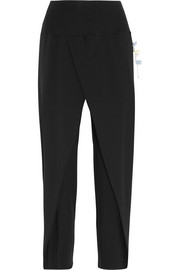 Sari folded stretch-jersey pants