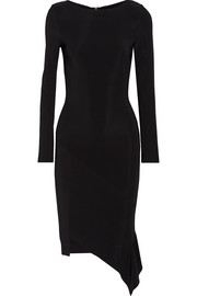 Marsili asymmetric stretch-crepe dress