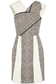 Jenolan crepe and tweed mini dress