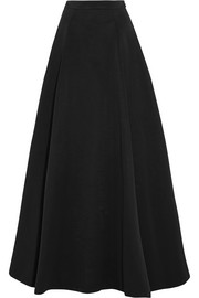 Cotton-blend faille maxi skirt