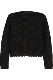 Metallic wool-blend bouclé jacket