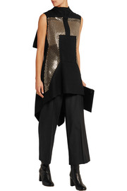 Sphinx sequin-embellished wool-blend vest