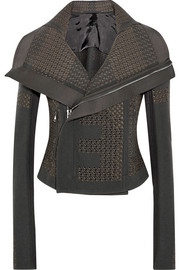 Rick Owens Sequined wool-blend biker jacket