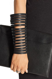Cutout leather arm cuff