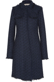 Wool-blend tweed coat