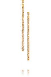 Lilah 18-karat gold diamond earrings