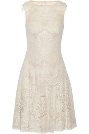 Sequin-embellished embroidered tulle dress