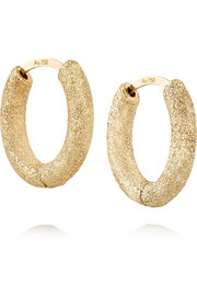 Huggy 18-karat gold hoop earrings