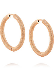 18-karat rose gold hoop earrings