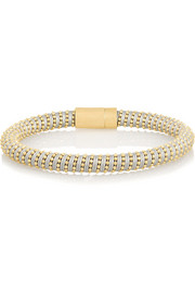 Carolina Bucci Twister 18-karat gold-plated and silk bracelet