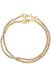 Disco Ball set of two 18-karat gold bracelets
