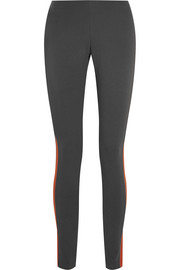 Color-block stretch-jersey leggings