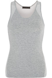 Mesh and jersey tank