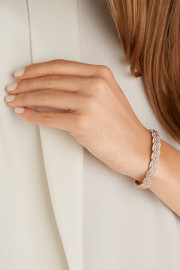 Braid 18-karat rose gold diamond bracelet