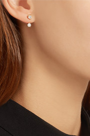 Orbit 18-karat gold diamond earring