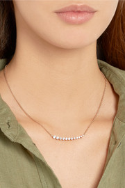 Floating 18-karat rose gold diamond necklace