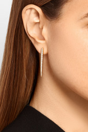 Spear 18-karat gold diamond earrings