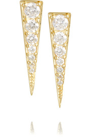 Small Dagger 18-karat gold diamond earrings