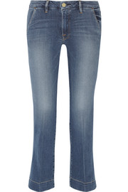 Le Slim cropped mid-rise straight-leg jeans