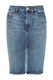 Le Pencil denim skirt