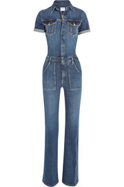 Le Flare de Francoise stretch-denim jumpsuit