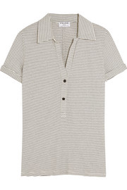 Le Polo striped stretch-jersey T-shirt