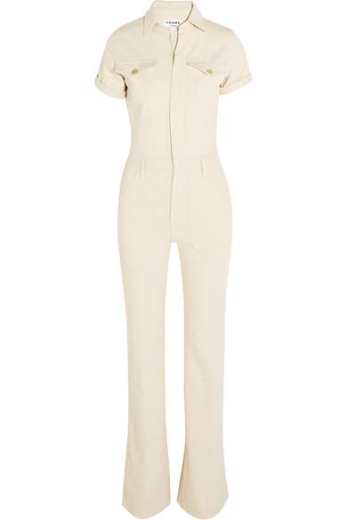 cc35a4685473 FRAME. Le Flare de Francoise stretch-denim jumpsuit