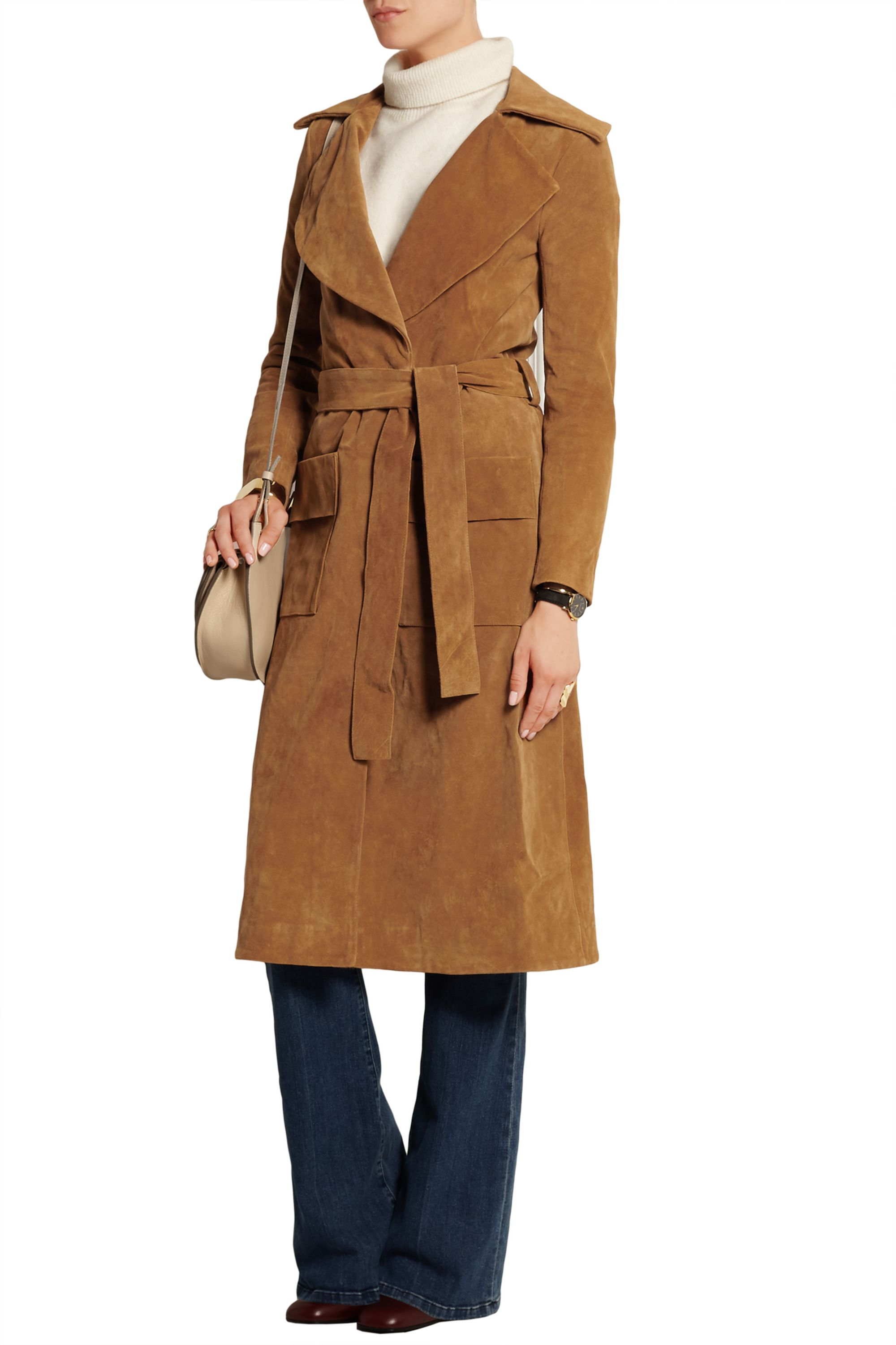 FRAME Le Duster suede coat