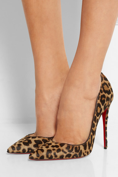 6a40f35b95a 105 leopard-print calf hair pumps