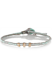 18-karat rose gold, oxidized sterling silver and diamond bracelet
