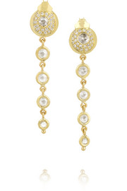 Ma'at Raindrop 18-karat gold diamond earrings