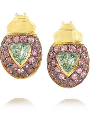 Ma'at 18-karat gold multi-stone earrings