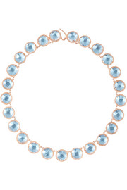 Olivia Button Rivi�re rose gold-dipped topaz necklace
