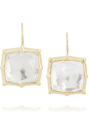 Bella 14-karat gold topaz earrings