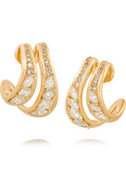 Stream 18-karat gold diamond earrings