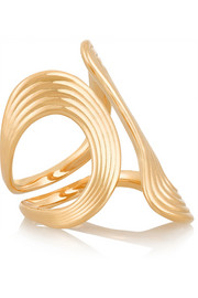Stream Lines 18-karat gold ring