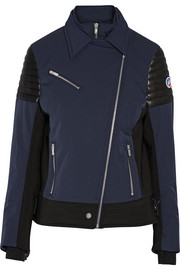 Bonneval leather-trimmed shell ski jacket